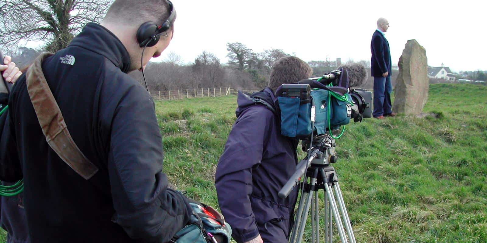 BBC Northern Ireland filming at Magnus Grave in 2006