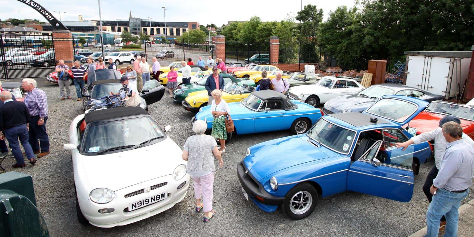 Northern Ireland MG Owners group visiting the railway