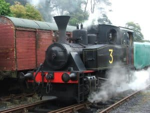 No. 3 in steam at our station in 2009. Photo by Gordon Hawkins.