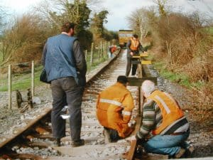 Laying track on the South Line
