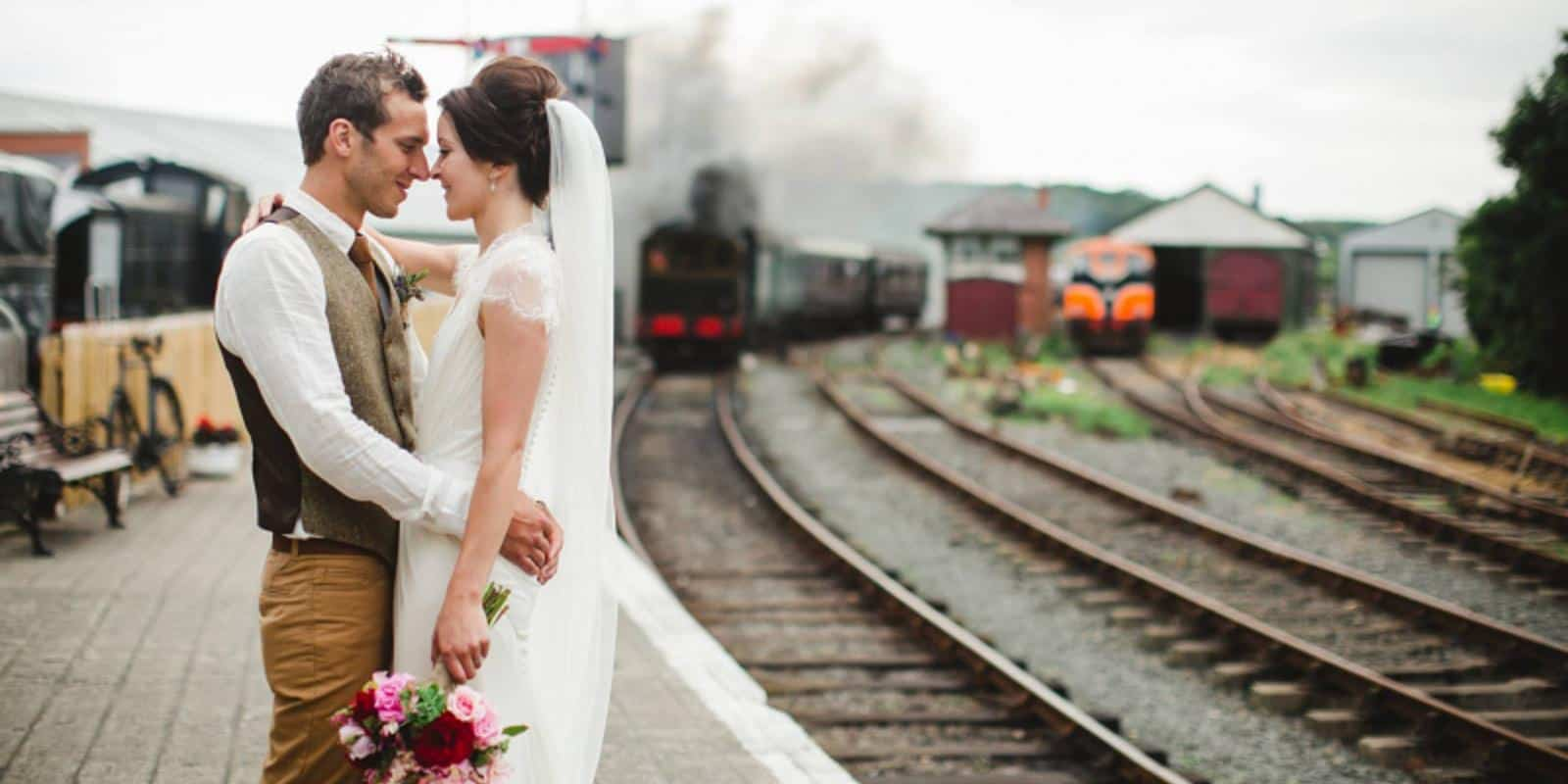 Wedding photography at our station