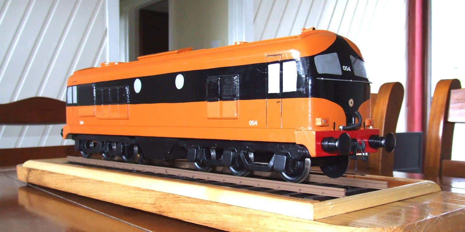 A display model of an Irish Rail A Class diesel locomotive