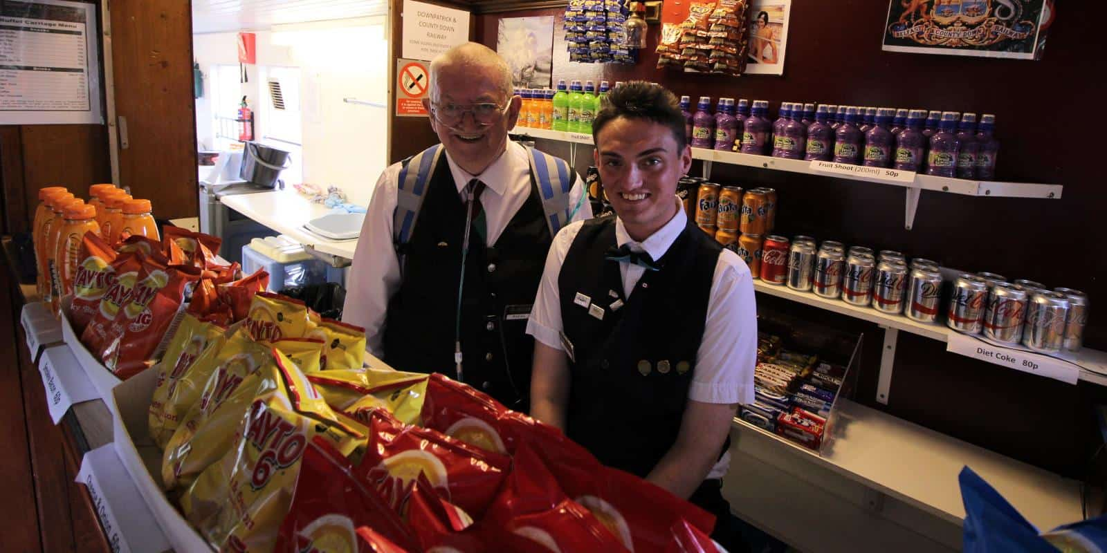 Andrew and Barry, our cheerful buffet team