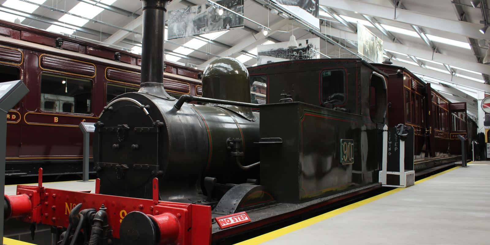 GS&WR steam locomotive No. 90 on display in the gallery building