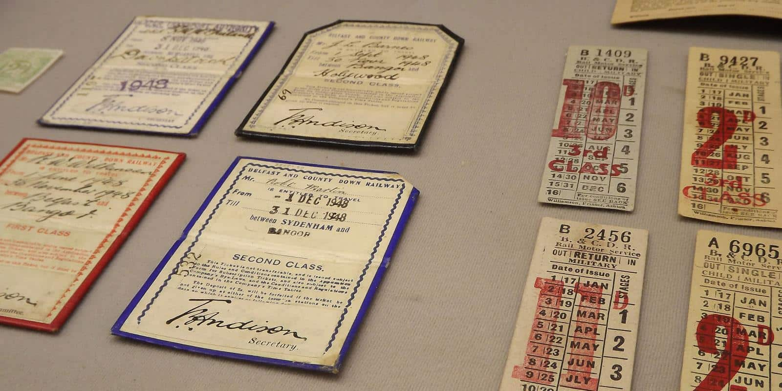 Old B&CDR tickets on display