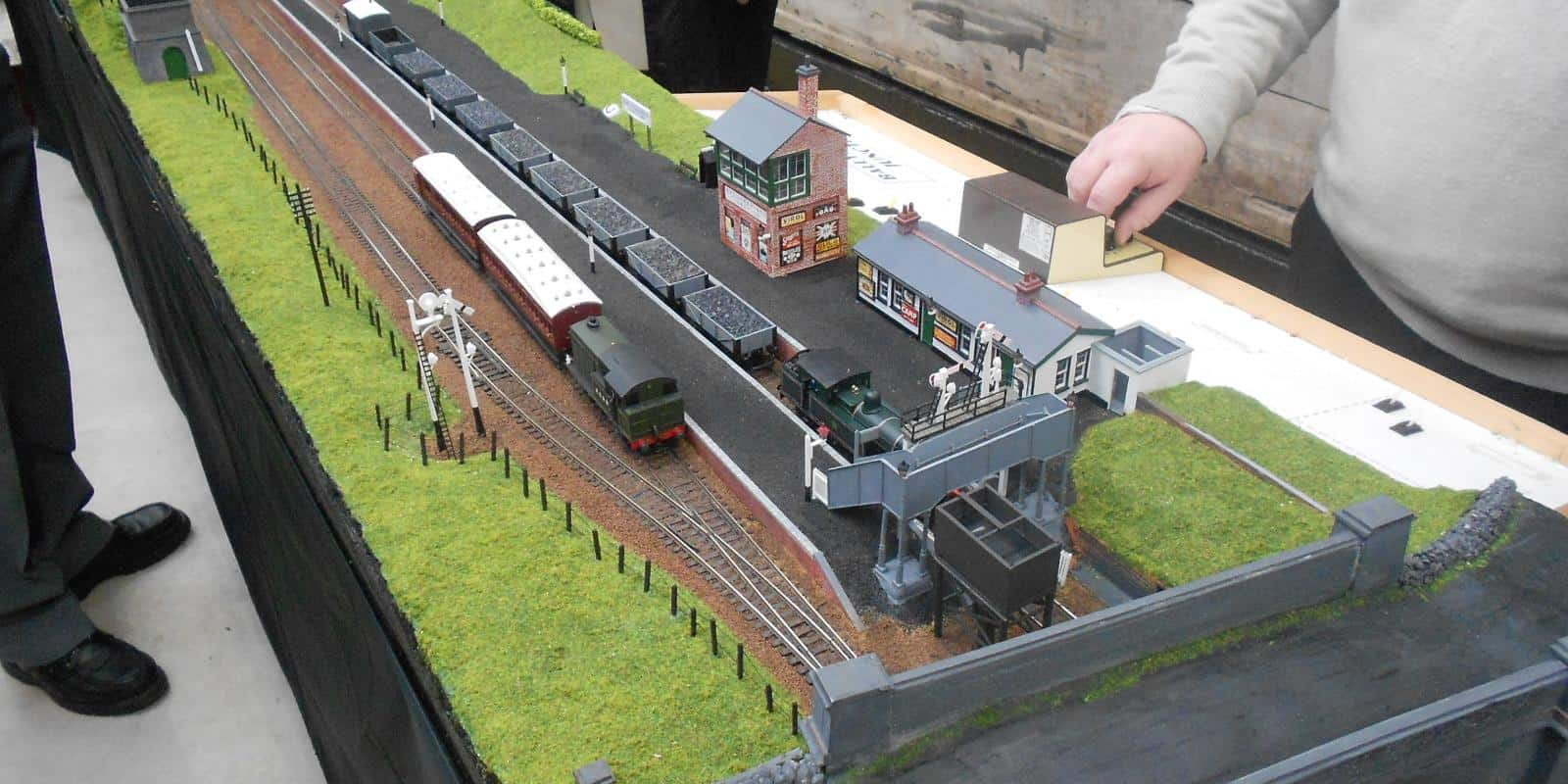 Patrick Davey's model of Ballynahinch Junction in its heydey is on display in our carriage gallery