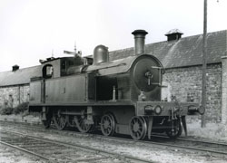 BCDR No. 20 in Newcastle Station yard in the 1930s, the first locomotive Jimmy Majury worked on in 1944.