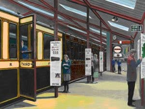 Artist's impression of the interior of the planned carriage gallery