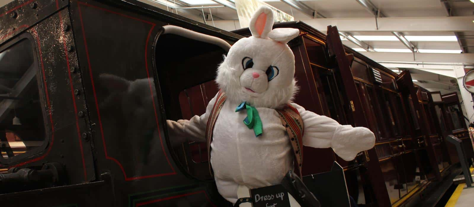 Aimee the Easter Bunny in our carriage gallery
