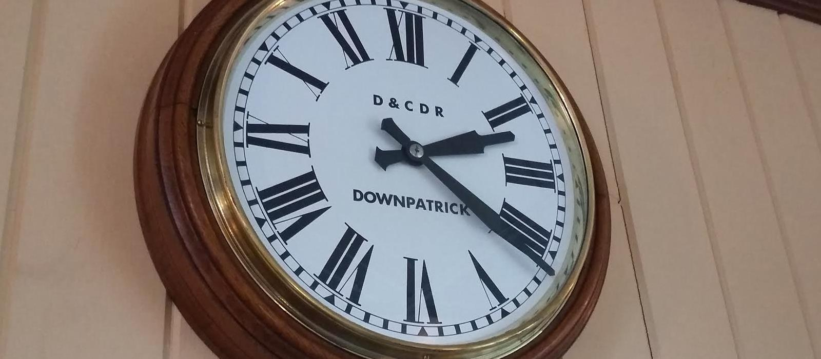 The DCDR clock in our booking office
