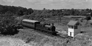 Bundoran Jct North Cabin in its original location, before the railway line closed. (Photo: Bluebell Railway collection)