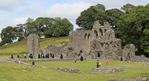 Explore the ruins of Inch Abbey