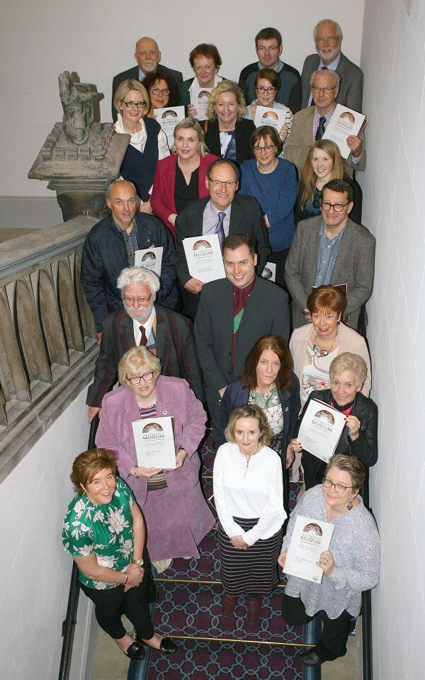 Group photo of local museum representatives and NIMC members, including staff and volunteers from museums awarded Full Accreditation in 2018.