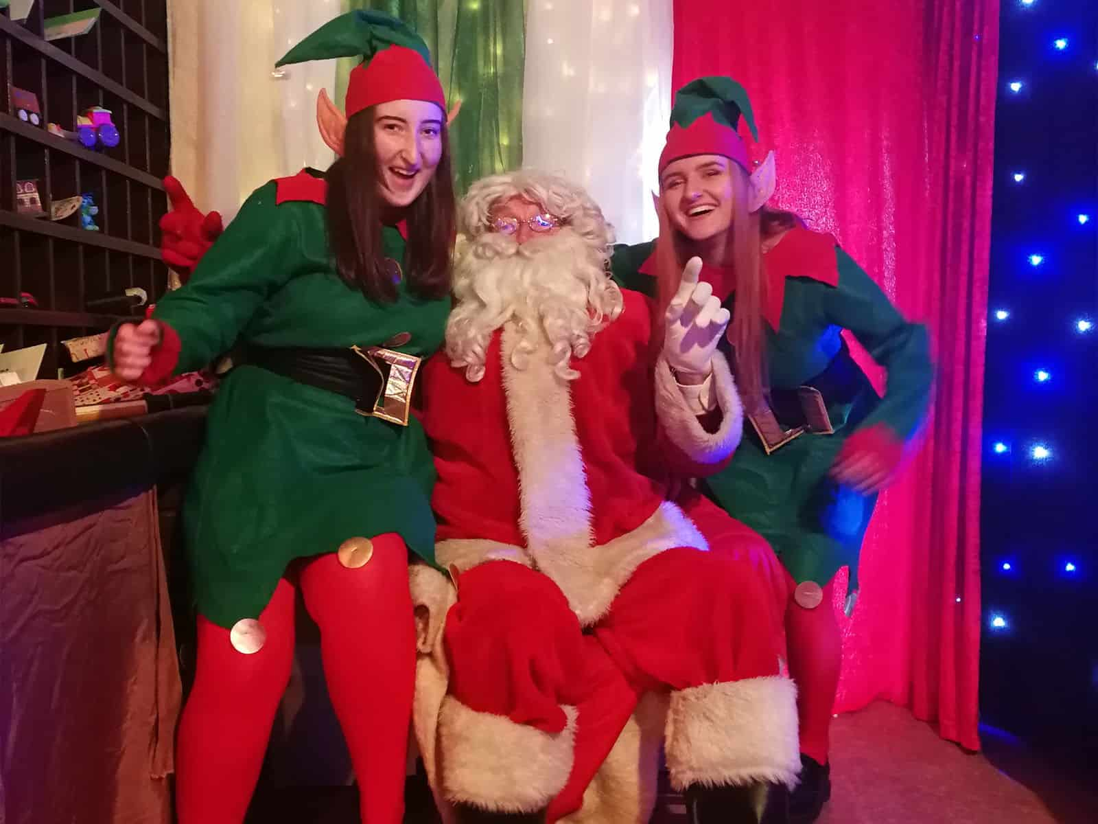 Santa and his elves are ready to meet all the kids - have you been good this year?